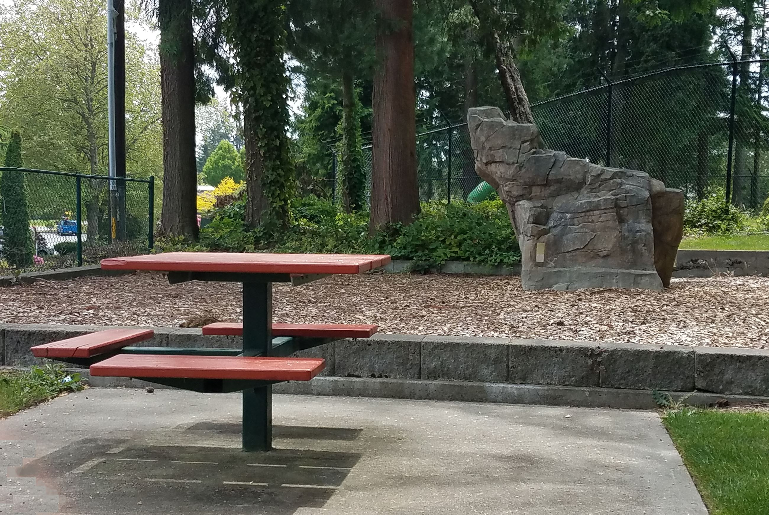 Jack Long Park Picnic Table and Climbing Rock