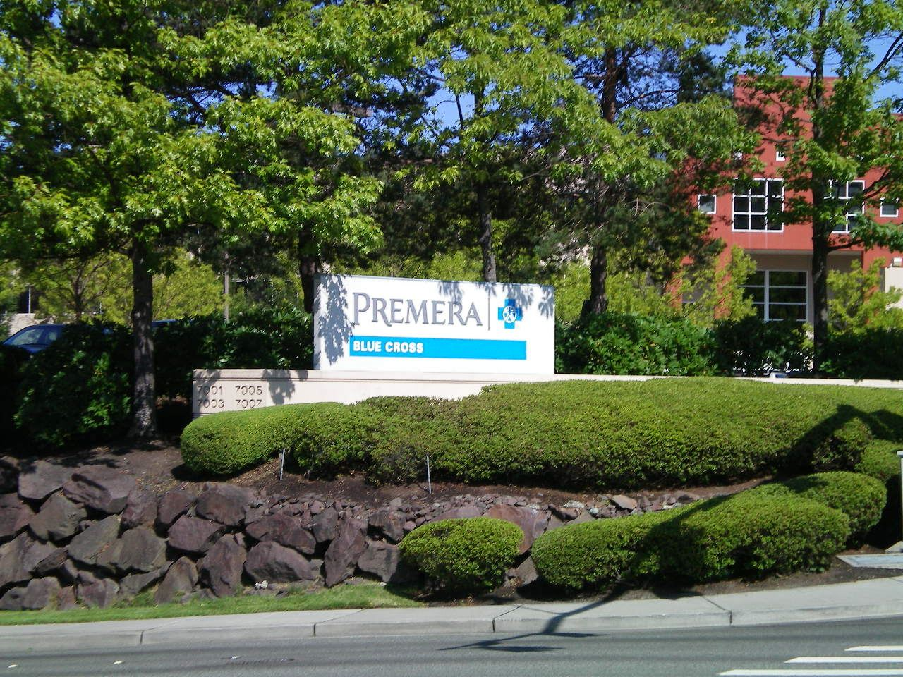 Premera Blue Cross Sign